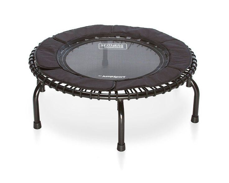 JumpSport Fitness Trampoline Model 250 � In-Home Small Rebounder � Cushioned Bounce � No-Tip Arched Legs � Long Lasting Premium Bungees � Top Rated for Quality and Durability � Music Workout Video Included