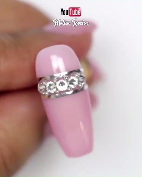 GLAMOROUS NAIL ART  #nailart #glamnails #nails