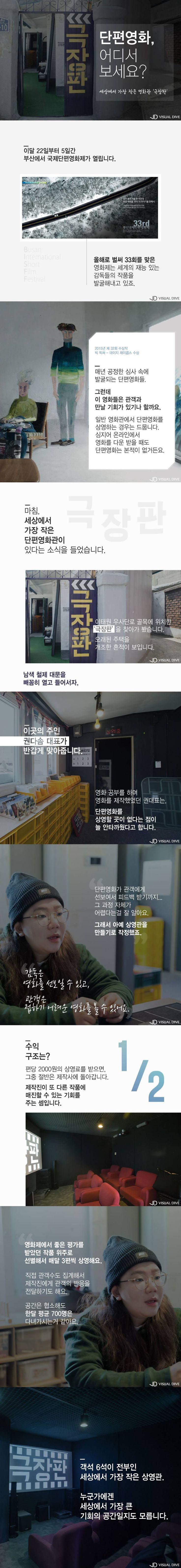 세상에서 가장 작은 영화관, 이태원 '극장판' [카드뉴스] #cinema / #cardnews ⓒ 비주얼다이브 무단 복사·전재·재배포 금지