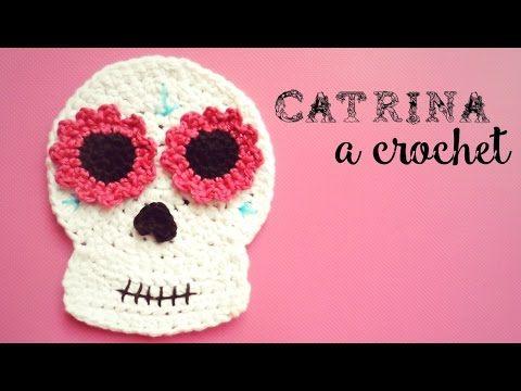 Catrina (calavera mexicana) a Crochet - DÍA DE LOS MUERTOS   How to crochet a mexican skull - YouTube