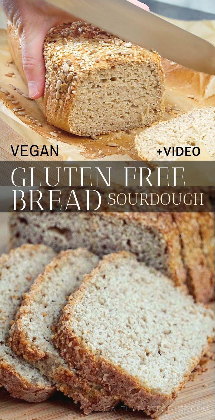 Gluten Free Sourdough Bread Vegan Yeast Free Gum Free Healthy Taste Of Life Recipe In 2020 Gluten Free Recipes Bread Gluten Free Sourdough Bread Gluten Free Bread