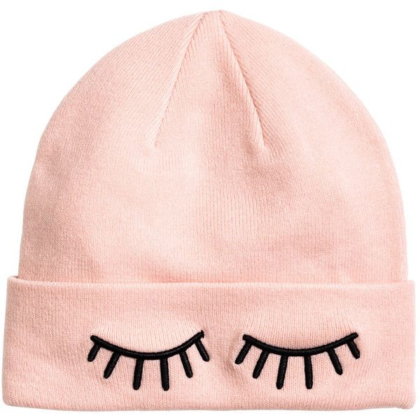 H&M Strickmütze 3,99 (£8.02) ❤ liked on Polyvore featuring accessories, hats, beanie, beanie cap hat, beanie hat and beanie cap