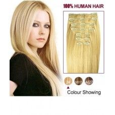 "20"" Clip on #Extension Color #24 - Vipin Hair Extension provide Golden Hair Color Code 24 clip in hair extensions online. Checkout with full confidence."