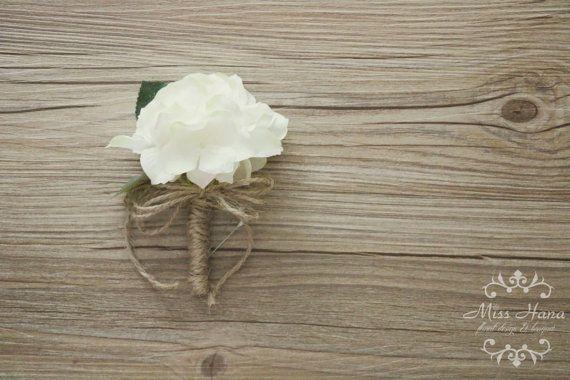 how to make silk hydrangea boutonniere