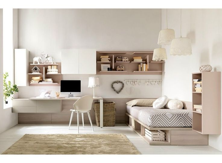 Fitted bedroom set for girls CITYNEW 136 Citynew Collection by Doimo CityLine