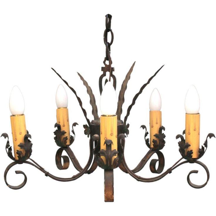 Distinctively Styled 1920u0027s Spanish Revival Chandelier