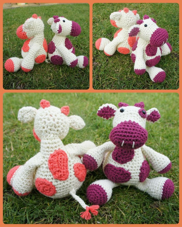 "Free pattern for ""Monty Moo"" from A Bunch of Buttons!"