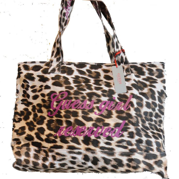 Guess new 2015 Borsone Borsa Maculata mare spiaggia shopping Piscina bag