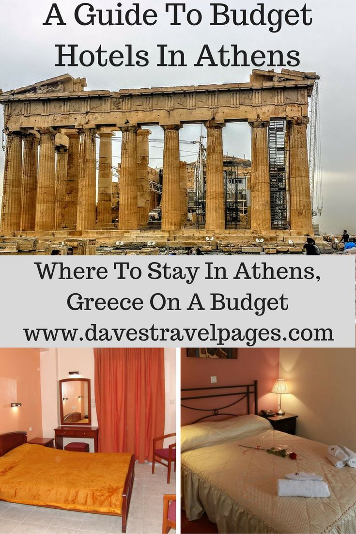 A Guide to Budget Hotels in Athens, Greece. A selection of cheap hotels in Athens for less than 30 Euros a night.