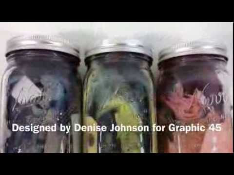 Botanical Tea Custom Dye Works tutorial by Denise Johnson! What an awesome technique #graphic45 #tutorials #videos