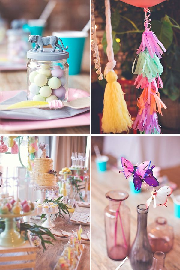 Gorgeous boho chic birthday party pastels feathers for Dekoration fur babyparty