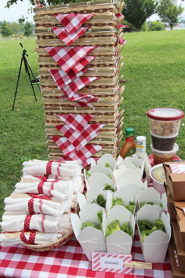 Definitely want the picnic baskets and flannel table cloths