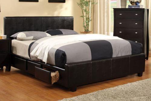 Furniture of America Burlington Queen Size Platform Bed with Side Storage CM7009Q