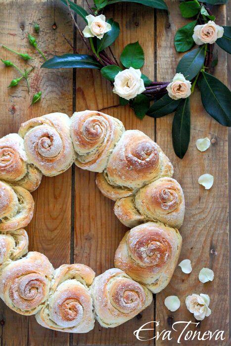 Spring Bread Wreath
