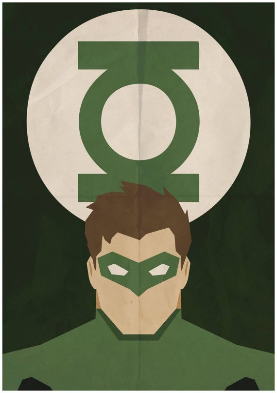 Green Lantern - Minimalist Retro Poster, Movie Poster, Art Print    Poster Size: 11.7 inches X 16.5 inches    Printed on high quality, A3 220gm