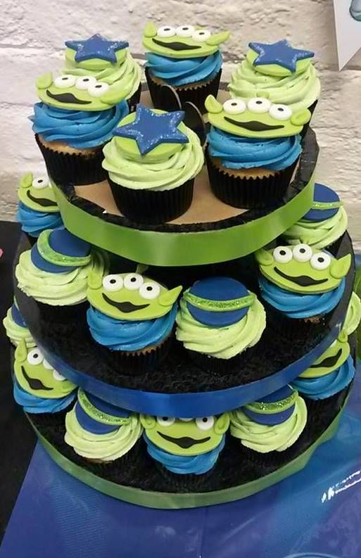 Toy Story Alien Cupcakes, by Lizzie Botma, Cape Town, South Africa