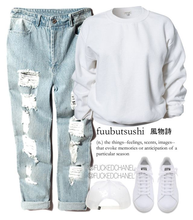 #PRAYFORPARIS : JE SUIS MUSULMANE PAS TERRORISTE ! by fuckedchanel on Polyvore featuring polyvore, fashion, style, River Island and adidas
