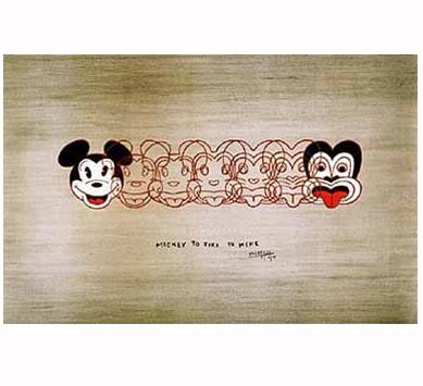 Discover Me : Prints NZ : Mickey to Tiki by Dick Frizzell *want*