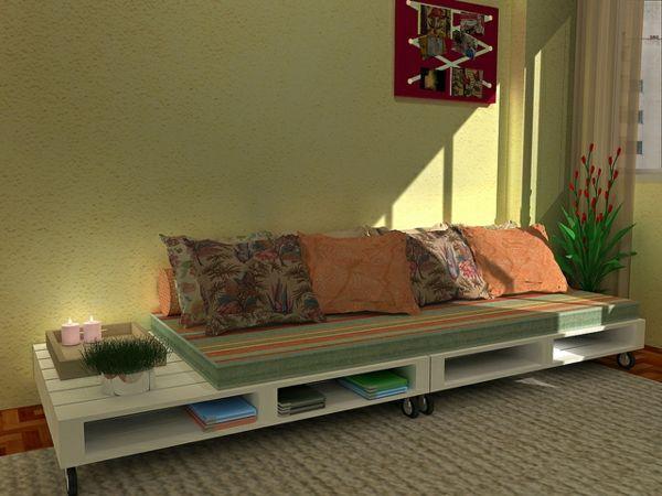 -étagère-livre-coussin-design-vert-doux-canapee-en-palette