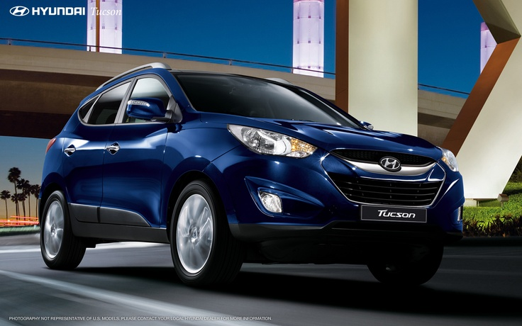 2013 Hyundai Tuscon (ix35) in Iris Blue - One of my many wants and desires :)