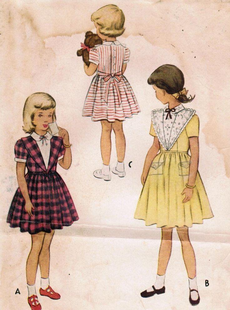 Vestito taglia negli anni cinquanta McCall 8361 Vintage Sewing Pattern bambino 6 di midvalecottage su Etsy https://www.etsy.com/it/listing/69857935/vestito-taglia-negli-anni-cinquanta