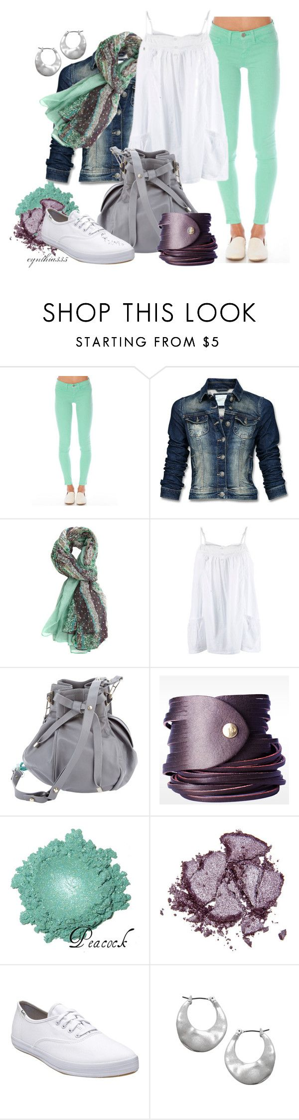 """Sea Foam and Violet"" by cynthia335 ❤ liked on Polyvore featuring Flying Monkey, Mexx, Pauric Sweeney, Linea Pelle, Stila, Keds and Kenneth Cole"