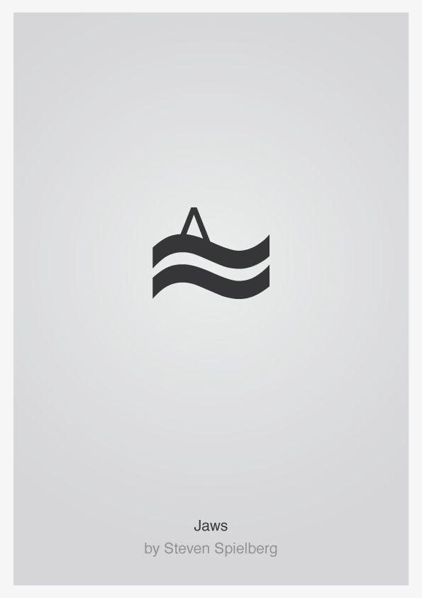 jaws minimalist typography film poster