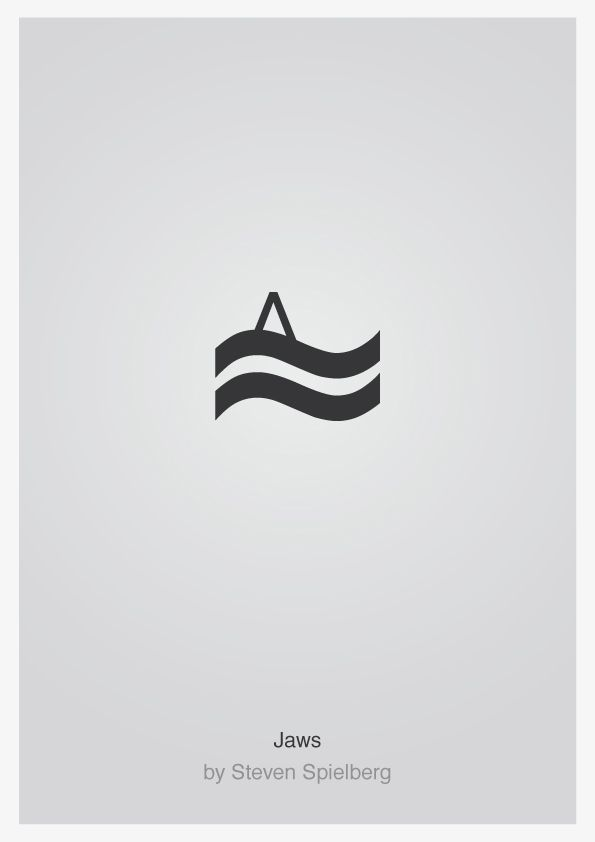 jaws minimalist typography film poster