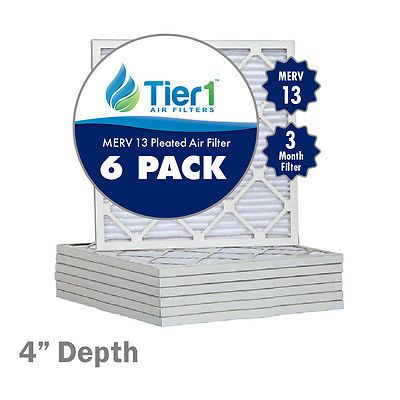 15x30x4 Ultimate Allergen Merv 13 Replacement AC Furnace Air Filter (6 Pack)