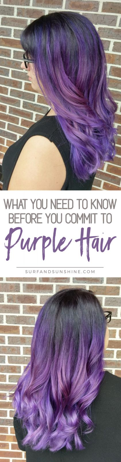 Want to dye your hair purple? Here are important things to know before you do - from what to expect, what they don't tell you and how to maintain your new look via @jeanabeena