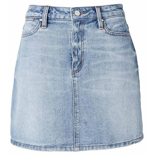A Line Denim Skirt ❤ liked on Polyvore featuring skirts, knee length a line skirt, denim skirt, a line skirt, blue denim skirt and a-line denim skirts