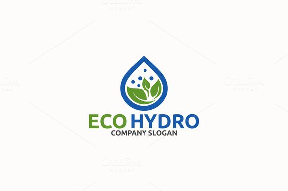 Eco Hydro by Brandlogo on @creativemarket