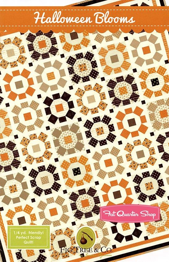 Halloween Blooms Quilt Pattern<BR>Fig Tree Quilts