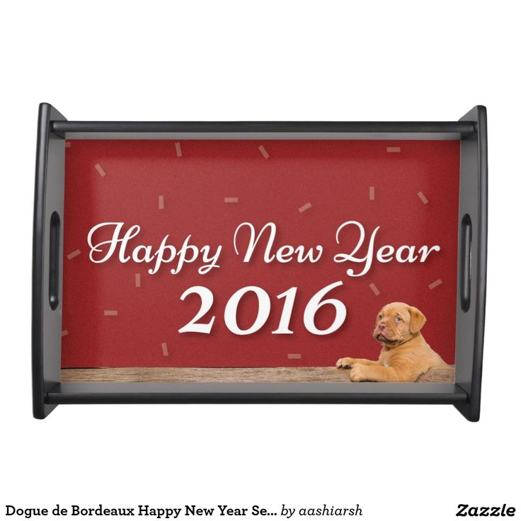 #Dogue de Bordeaux #HappyNewYear #Serving #Tray #2016 #home #kitchen #womens #dining #dinner