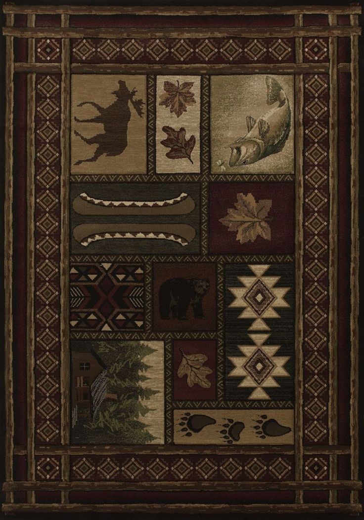 United Weavers Contours Cabin Chalet Toffee Area Rug X
