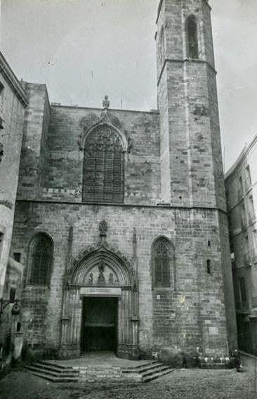 Església de St. Just i Pastor, 1954. Arxiu Fotogràfic de Barcelona