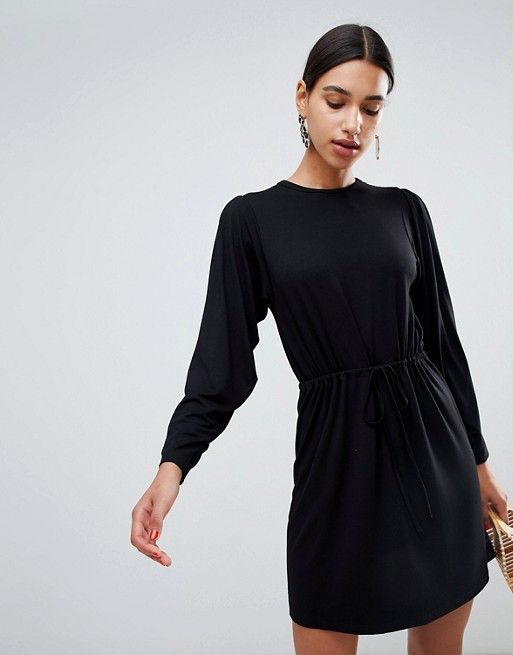 1291773d17d DESIGN batwing mini dress with drawstring waist | S T Y L E | Pinterest |  Dresses, Drawstring waist and Maternity Fashion
