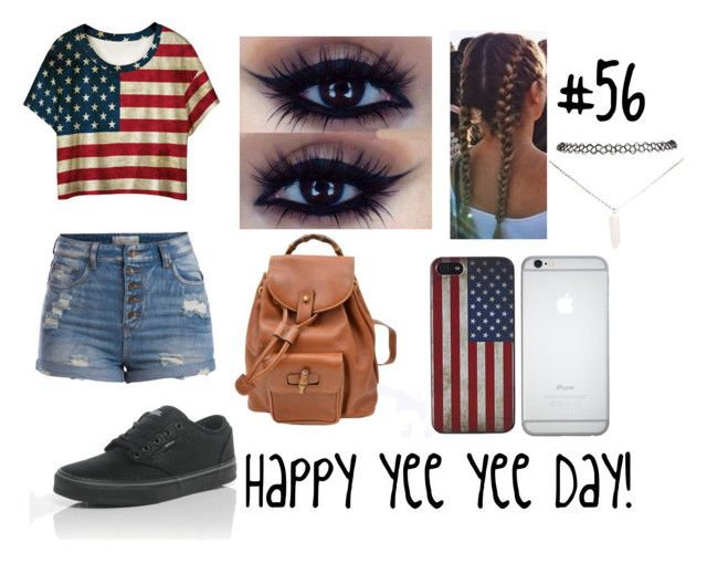 """""""Outfit #56"""" by allycatdixie123 on Polyvore featuring WithChic, Pieces, Gucci, Wet Seal and Vans"""