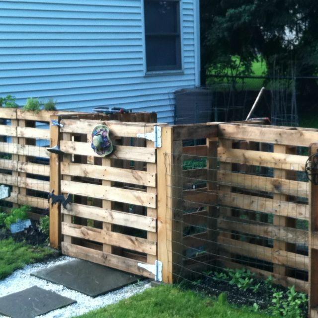 68 best fence ideas images on pinterest decks wood and for Diy pallet fence gate