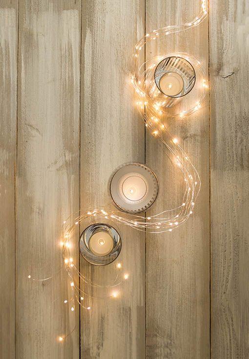 37 best images about fairy lights on pinterest led - Fairy light decoration ideas ...