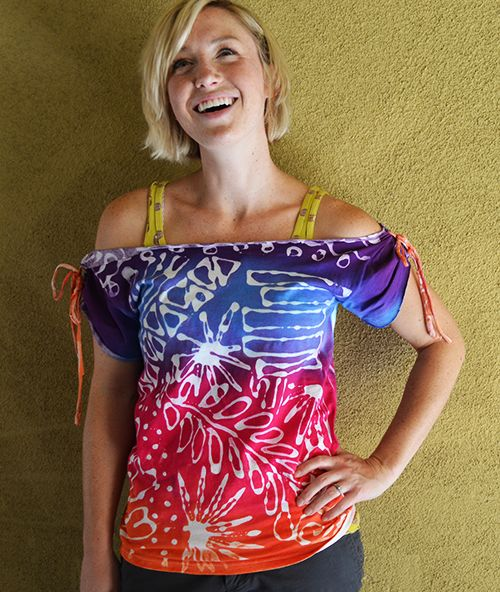 Glue-resist tie-dyed altered t-shirt #tutorial :) Love it! @Kathy Cano-Murillo & @ILoveto Create #summerofjoann