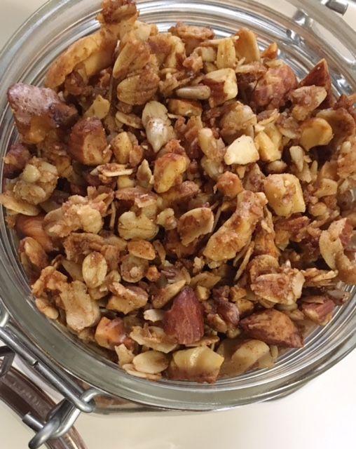 Crunchy Cinnamon Honey Granola – #cinnamon #crunchy #granola #honey – #new