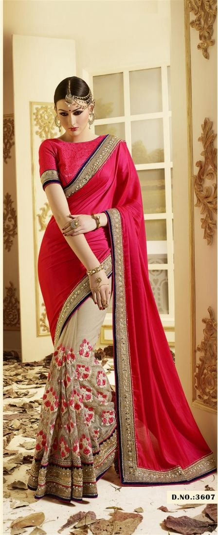 Beauteous Patch Border Work Georgette Designer Saree