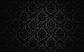 Обои узор, ретро, винтаж, вектор, фон, черный, текстура, темный, орнамент, узор, градиент, винтаж