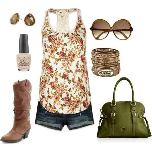 Country girl style,accept with real cowboy boots