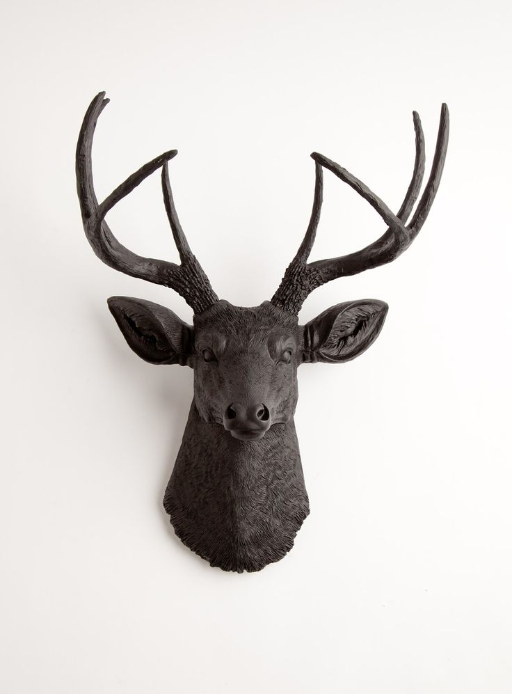 Black Faux Deer Head Wall Mount, The Ignatius by White Faux Taxidermy,  Decorative Wall Hanging Ornament - 25+ Best Ideas About Faux Deer Head On Pinterest Deer Head Decor