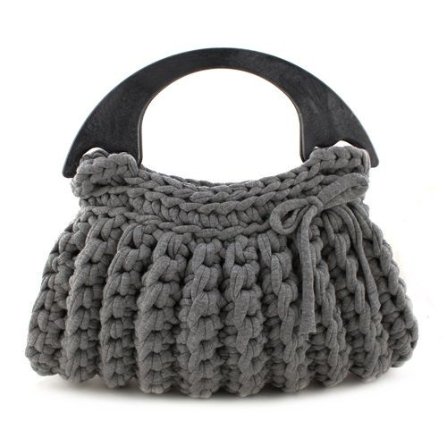 DIY Crochet Kit Zpagetti bag Milano Antracite | Hoooked