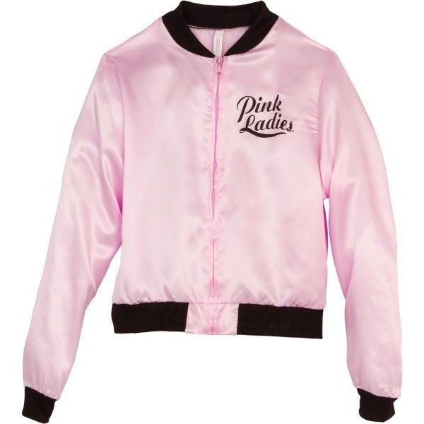 Pink Ladies Jacket ($25) ❤ liked on Polyvore featuring outerwear, jackets and pink jacket
