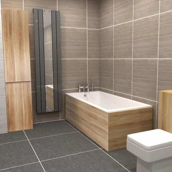 MyPlan 800 bath end panel - new oak | bathstore