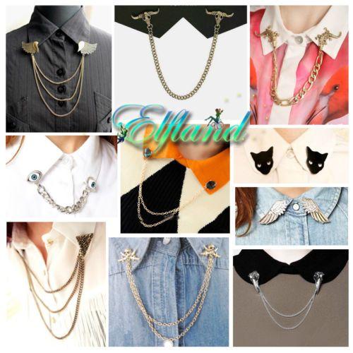 Kragenkette Brosche Collar Chain Clip Pin * Punk Blogger * 10 Modelle zur Wahl   eBay